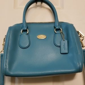 Coach turquoise small satchel